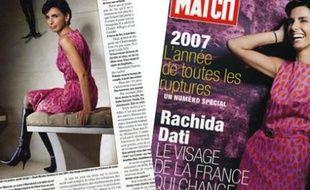 Rachida Dati dans Paris Match
