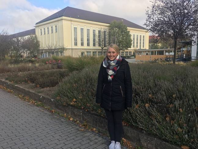 Elisan, étudiante native de la Thuringe, à l'université d'Erfurt, le 30 octobre 2019.