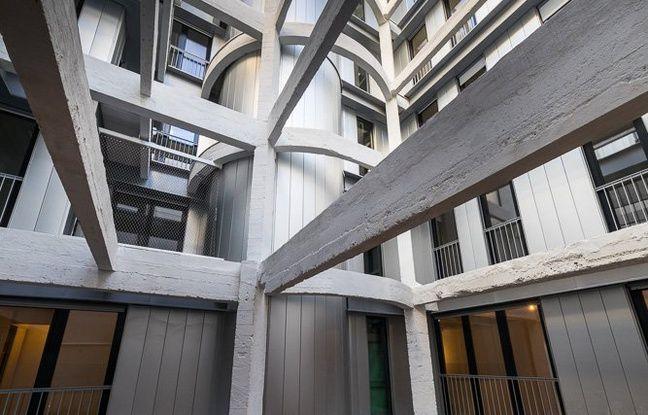 Ancien parking réhabilité en logements sociaux dans le 9e arrondissement