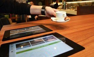 Les tables connectées de l'Agora à Montpellier.