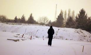 Illustration de neige, ici en février 2012 à Rennes.