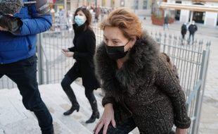 Jacqueline Veyrac, à son arrivée au tribunal judiciaire de Nice le vendredi 8 janvier 2021
