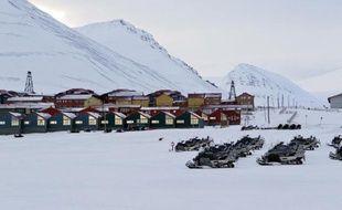 La cité minière de Longyearbyen, dans l'archipel arctique du Svalbard en Norvège.