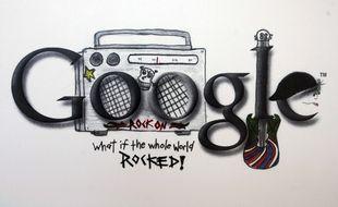 Un Doodle exposé au Doodle Museum de Google en Californie