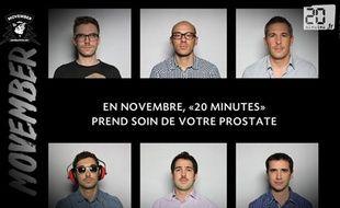 Capture d'écran du teaser de «20 Minutes» pour Movember 2013.