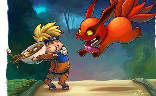 Bataille de ramen entre Naruto et Kyuubi