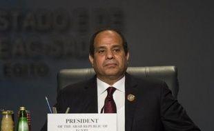 Le président égyptien Abdel Fattah al-Sisi le 10 juin 2015 lors de la réunion des  dirigeants de 26 pays d'Afrique à Charm el-Cheikh