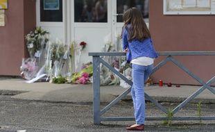 Devant l'école l'école maternelle Edouard-Herriotà Albi, où Fabienne Terral-Calmes, une institutrice a été poignardée par une mère d'élève.