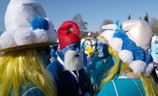 Le 16 février, 2.762 Schtroumpfs se sont rassemblés à Lauchringen en Allemagne.