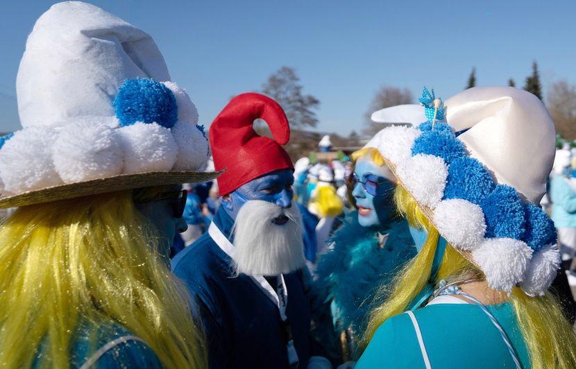 Bretagne : Landerneau veut battre le record du monde du plus grand rassemblement de Schtroumpfs