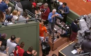 Zlatan Ibrahimovic serre la pince à Novak Djokovic, capture d'écran