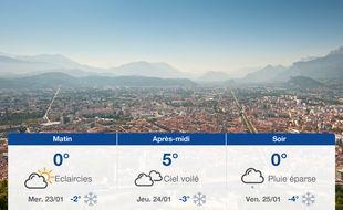 Météo Grenoble: Prévisions du mardi 22 janvier 2019