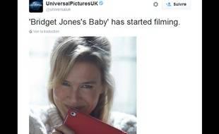 Renée Zellweger dans la peau de Bridget Jones pour le troisième volet.