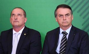 Onyx Lorenzoni, le chef du gouvernement, et Jair Bolsonaro, le président brésilien, le 2 janvier 2019.