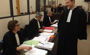 Les avocats de la défense, ce vendredi après-midi.