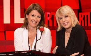 Christine Haas (à droite) et Laetitia Nallet (à gauche) dans les studios de RTL en 2013