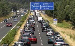 Une autoroute allemande. (Illustration) - Michael Klug/AP/SIPA