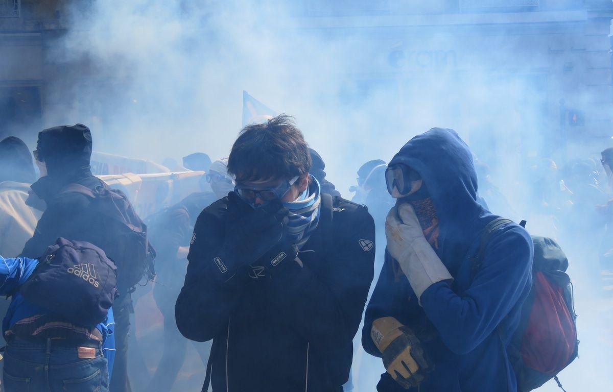Des heurts ont éclaté entre policiers et manifestants ce jeudi dans le centre-ville de Rennes. – J. Gicquel / APEI / 20 Minutes