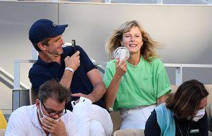 Karin Viard, le 11 juin 2021, à Roland-Garros.