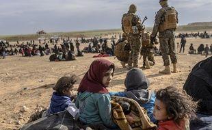 Des civils évacués près de Baghouz, le dernier bastion de Daesh jusqu'à samedi matin.