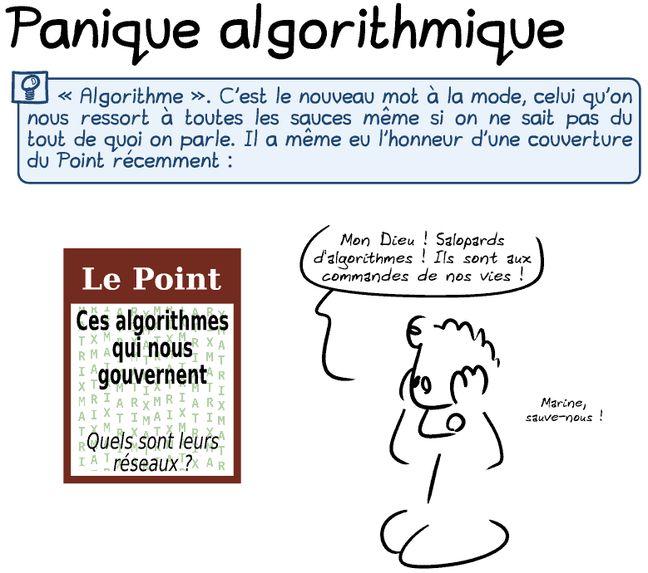 A lire aussi: Panique algorithmique, la BD de Gee sur le sujet
