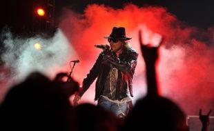 Axl Rose lors d'un concert à Bangalore, le 7 décembre 2012.