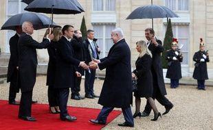 Emmanuel Macron accueille le Premier ministre israélien  Benjamin Netanyahu, et son épouse Sara, ce dimanche 11-Novembre au Palais de l'Elysée.