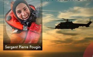 Le sergent Pierre Pougin, sauveteur plongeur héliporté de l'Escadron d'hélicoptères 1/67 «Pyrénées», est décédé lors d'un vol d'entraînement le 29 avril 2020.