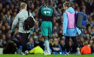 Moussa Sissoko est sorti sur blessure lors du quart de finale retour entre Manchester City et Tottenham, le 17 avril 2019.