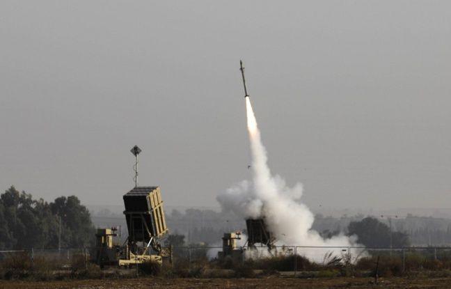 648x415 missiles israeliens lances vers gaza depuis sud israel