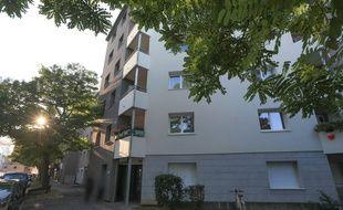 Immeuble où a été trouvé l'ADN de Sophie Le Tan. Strasbourg le 18 septembre 2018.