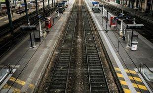 Quais déserts à la gare de Lyon Perrache, le 1er juin 2016 à Lyon