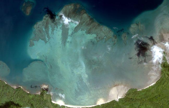 vue satellite Worldview-2 de l'ile de Coiba au Panama