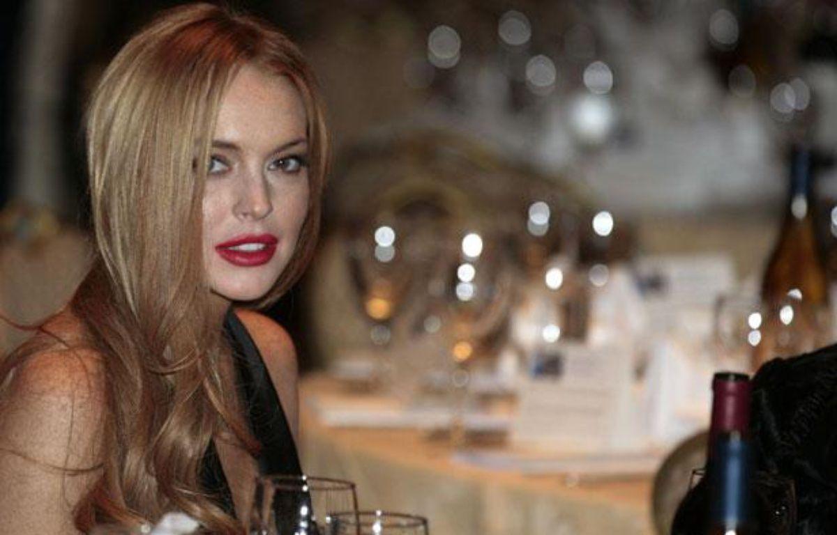 L'actrice Lindsay Lohan au dîner annuel des correspondants à la Maison Blanche, à Washington, le 28 avril 2012. – REUTERS/Larry Downing