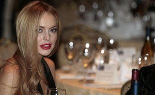 L'actrice Lindsay Lohan au dîner annuel des correspondants à la Maison Blanche, à Washington, le 28 avril 2012.