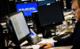 Au siège d'Europol, à La Haye, aux Pays-Bas.