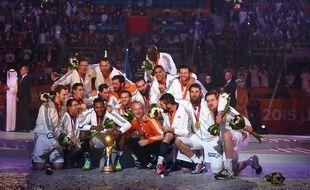 L'équipe de France de handball, le 1er février 2015, au Qatar.