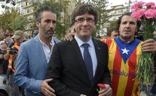Le dirigeant catalan Carles Puigdemont à Sant Julia de Ramis, le 1er octobre 2017.