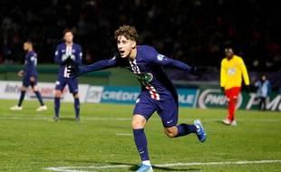 Adil Aouchiche s'est notamment illustré avec le PSG en janvier dernier, en devenant le deuxième plus jeune buteur de l'histoire du club , en Coupe de France face à Linas-Montlhery.