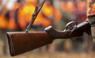 Un fusil de chasse. Illustration.