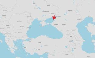 Un avion s'est écrasé à Rostov-on-Don, en Russie, le 19 mars 2016.