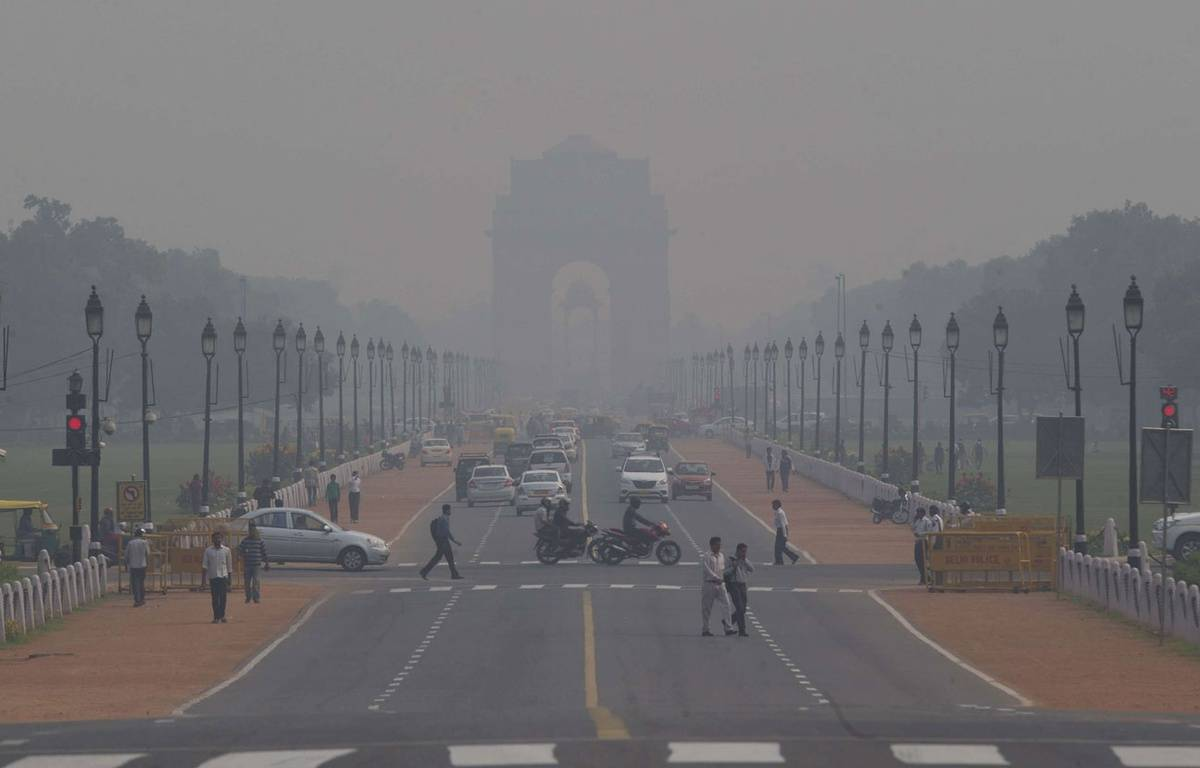 Pollution atmosphérique à New Delhi, le 9 novembre 2015. – Saurabh Das/AP/SIPA