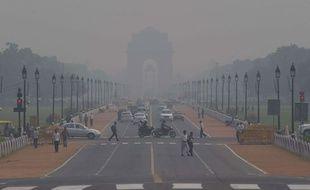 Pollution atmosphérique à New Delhi, le 9 novembre 2015.