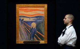 Le tableau «Le Cri», de Munch, vendu aux enchères le 2 mai pour 120 millions de dollars.