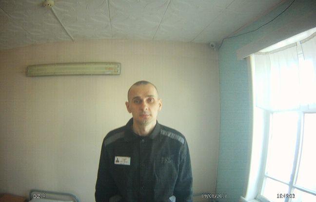 Photo d'Oleg Sentsov diffusée le 9 août 2018 par les autorités russes.