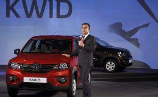 Carlos Ghosn lors de la présentation de la nouvelle Kwid à Chennai en Inde le 20 mai 2015.