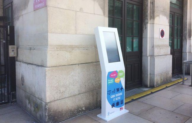 Bordeaux: Une borne pour orienter les SDF vers les acteurs solidaires installée à la gare