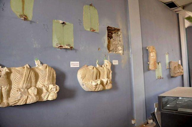 Une photo du Musée de Palmyre (Syrie), publiée le 27 mars 2016 par l'agence Sana.
