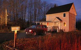 La maison du Maine où est recluse Kaci Hickox, l'infirmière américaine qui a annoncé son intention de rompre sa quarantaine, le 29 octobre 2014.