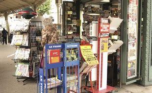 Kiosque à journaux à Vichy en Auvergne